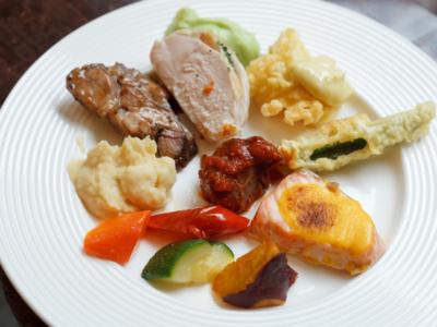 ウェスティンホテル東京『ザ・テラス』ランチブッフェの温菜